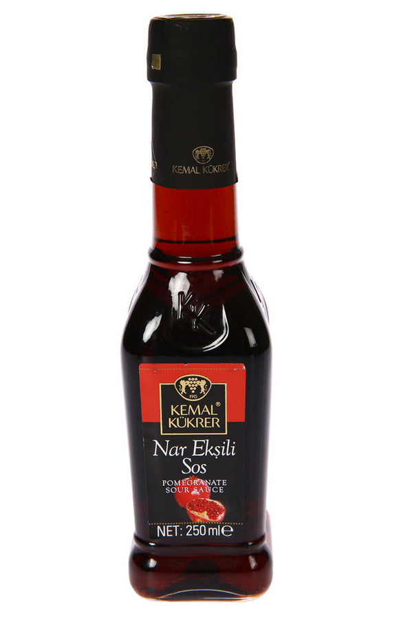 KEMAL KUKRER SAUCE WITH POMEGRANATE GLASS-NAR EKSILI SOS CAM 12X250 ML