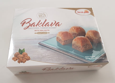 FARUK GULLU BAKLAVA WITH WALNUTS 1 LB