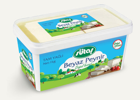 SUTAS FULL FAT WHITE CHEESE / TAM YAGLI BEYAZ PEYNIR 8X1000 GR (320591)