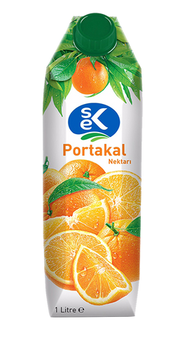 SEK FRUIT JUICE ORANGE / MEYVE SUYU PORTAKAL 12X1000 ML