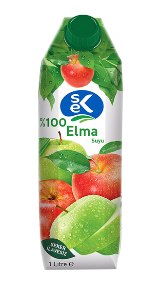 SEK FRUIT JUICE APPLE (%100) / MEYVE SUYU ELMA (%100) 12X1000 ML