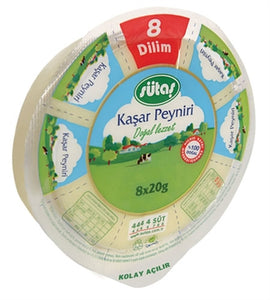SUTAS KAHKAVAL CHEESE 9X160 GR (8 SLICED) (310290)
