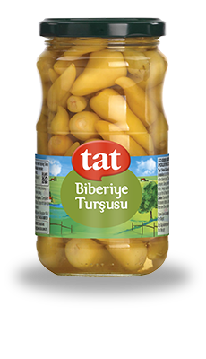 TAT HOT YELLOW PICKLED PEPPERS / BIBERIYE TURSUSU 12X370 GR