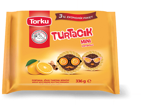 TORKU TURTACIK BISCUIT WITH ORANGE JELLY MULTI PACK / TURTACIK PORTAKALLI  12X3X302 GR