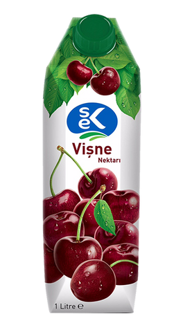 SEK FRUIT JUICE CHERRY/MEYVE SUYU VISNE 12X1000 ML