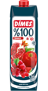 DIMES %100 MIXED RED FRUIT JUICE / %100 KIRMIZI KARISIK MEYVE SUYU 12X1 LT
