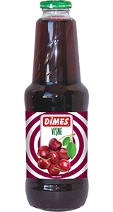 DIMES SOUR CHERRY JUICE GLASS BOTTLE / VISNE SUYU CAM SISE 6X1 LT