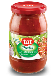 TAT DICED TOMATO , ONION AND PEPPER / DOGRANMIS DOMATES SOGAN VE BIBER 12X370 GR.