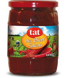 TAT EXTRA QUALITY RED PEPPER PASTE PASTE HOT JAR / ACI BIBER SALCASI 12X580 CC