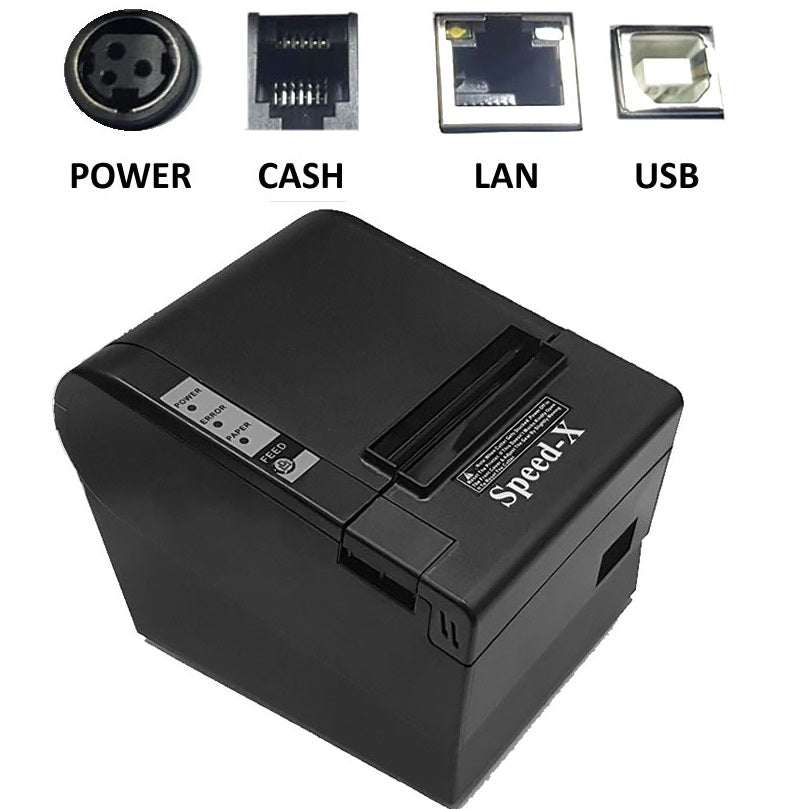 Speed-X 200 Plus Thermal Receipt Printer USB + LAN