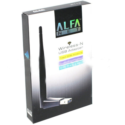 Alfa Wifi USB W113 3dbi Mt 7601 Antenna Adopter