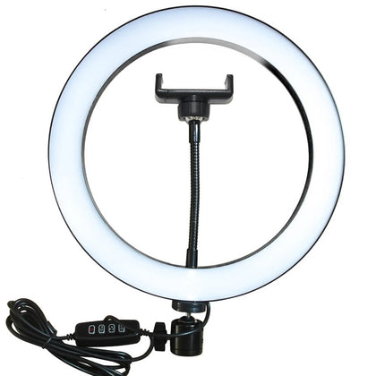 LED Studio Ring Light for Photography - 20cm (with Mobile Holder)