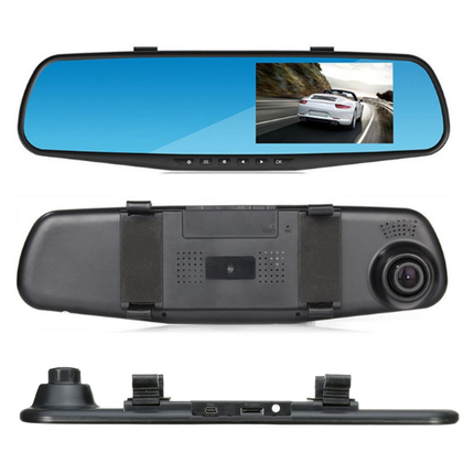 Car DVR Mirror Dual Camera Front back 1080p