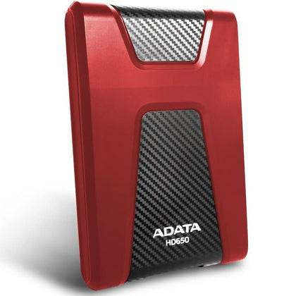 ADATA HD650 1TB Anti-Shock External Hard Drive, Red (AHD650-1TU3-CRD)