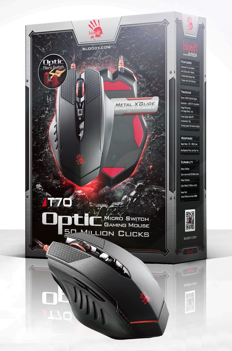 Bloody T70 Optic Micro Switch Gaming Mouse (Ultra Core 4 Activated)