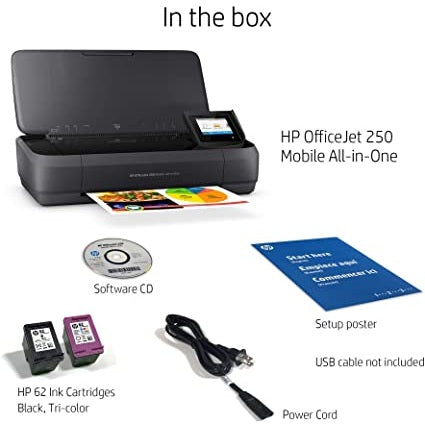 HP OfficeJet 250 Portable and Mobile All-in-One Printer (CZ992A)