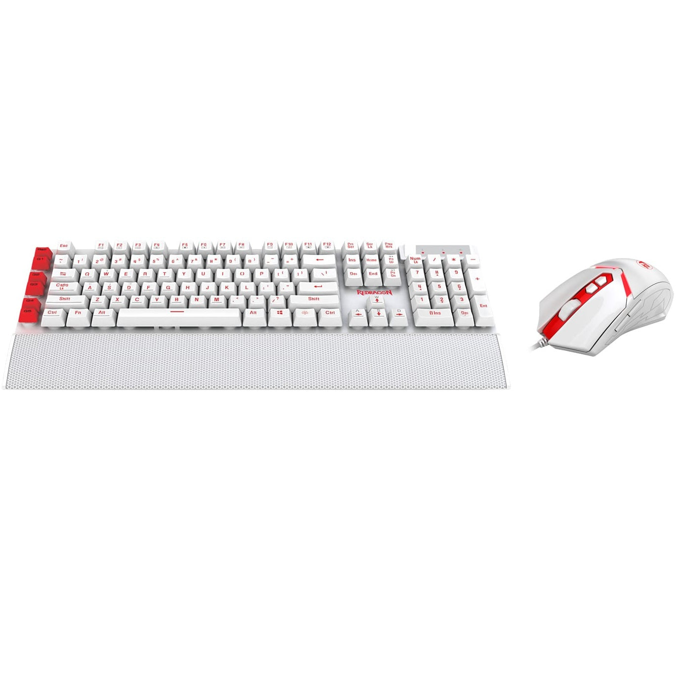 Redragon YAKSA Gaming Keyboard NEMEANLION Wired Gaming Mouse Combo S102-W