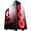 Redragon SIDESWIPE Gaming Chassis RD-GC-601, 3 x 120mm Fan Included, Tempered Glass