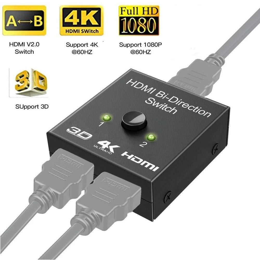 HDMI Bi-Direction Dual Function Switch And HDMI Splitter
