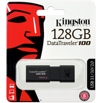 Kingston DataTraveler 100 G3 USB Flash Drive 128GB