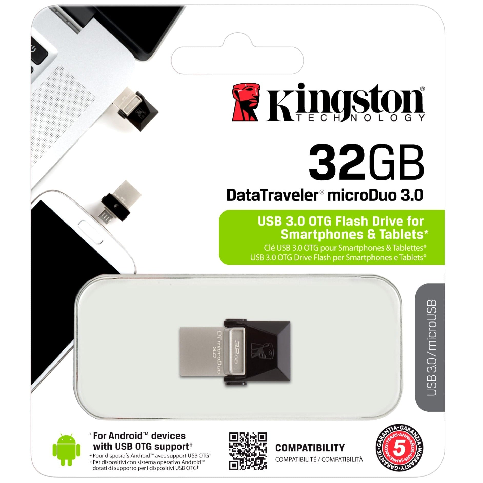 Kingston DataTraveler MicroDuo USB Flash Drive 32GB