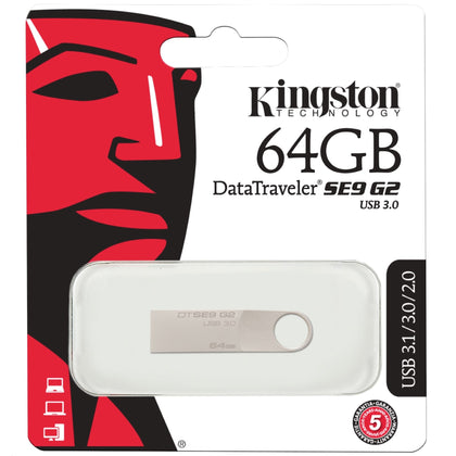 Kingston DataTraveler SE9 G2 USB Flash Drive 64GB