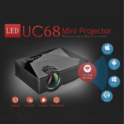 Uni Mini Projector Uc68 Wifi