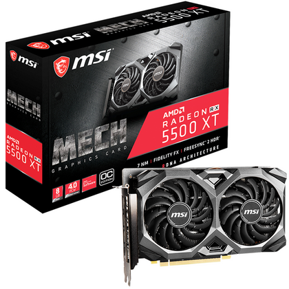 MSI Radeon RX 5500 XT MECH 8G OC Graphic Card
