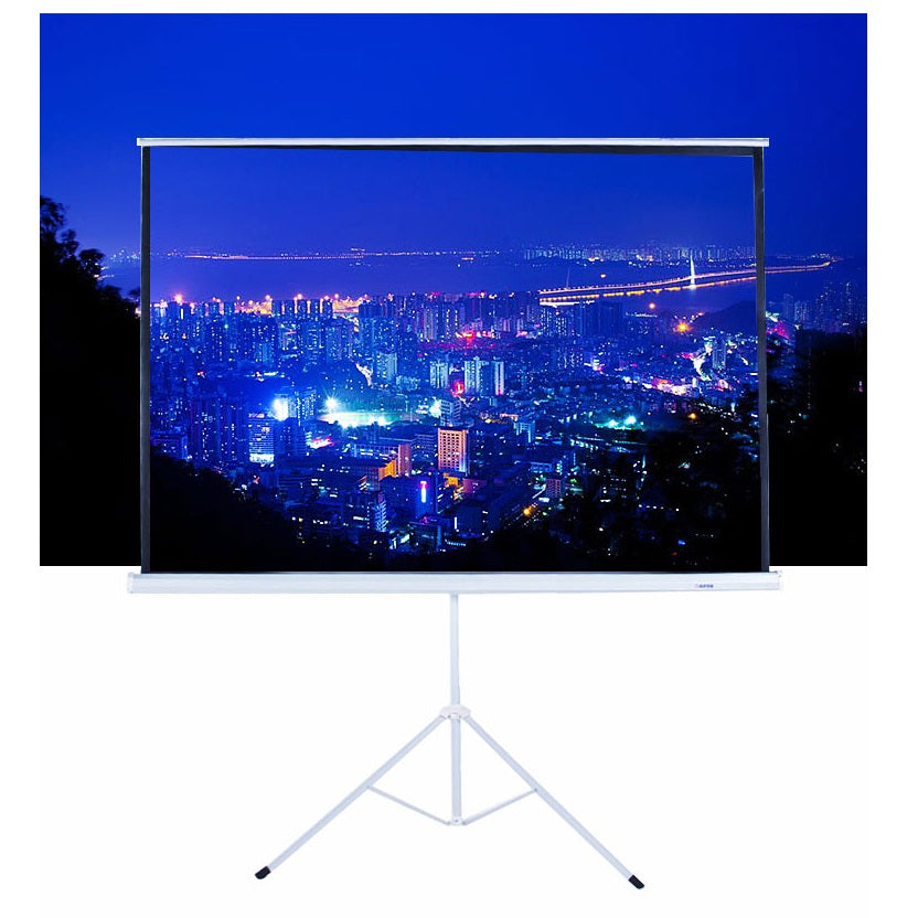Projector Screen 100 Inch Tripod Portable 5X7 FEET 4_3MW SPEED-X