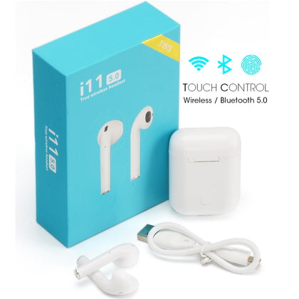 i11 TWS with Sensors Touch And Window Wireless Earphone V5.0
