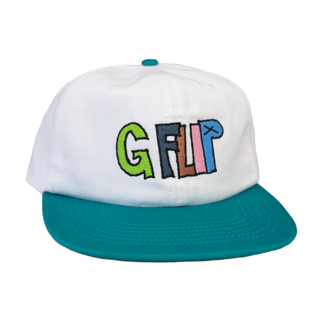 G Flip Retro 6-Panel Cap (Green/White)