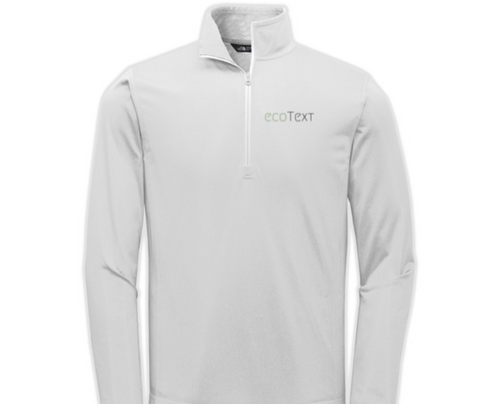 ecoText Gray North Face Quarter Zip