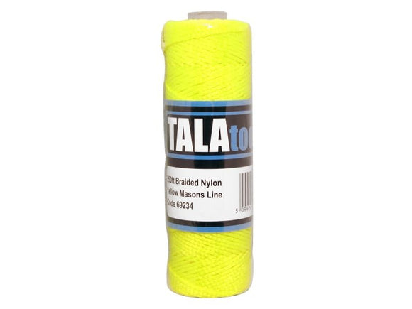 Tala Yellow Braided Masons Line 350ft