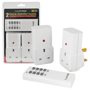 Twin Remote Control Sockets