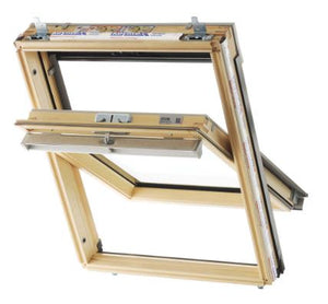 Keylite Pine Centre Pivot Window