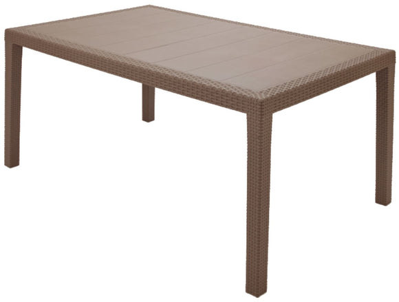 Rattan Effect Table - Taupe