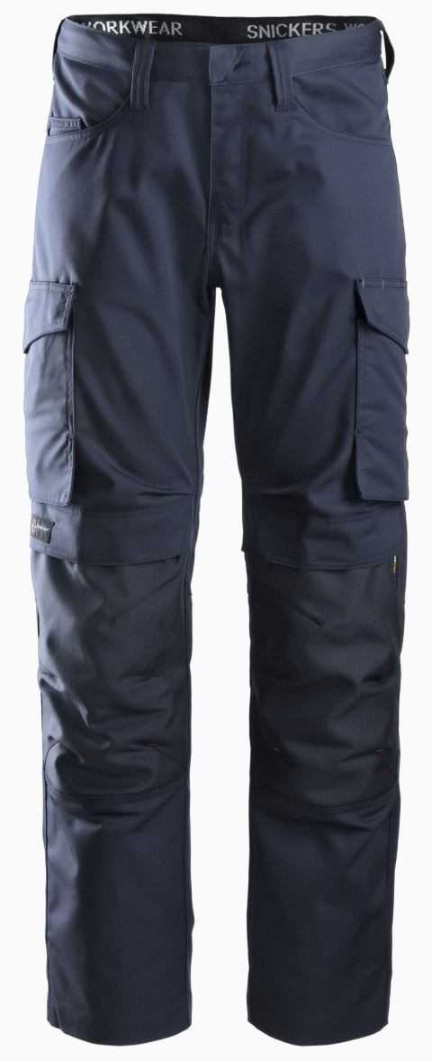 Snickers Service Trousers with Knee pad Pocket