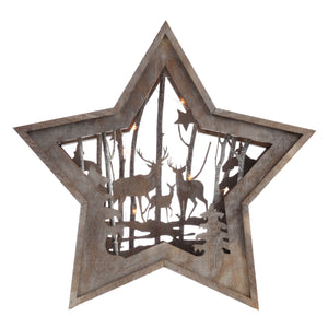 Wooden Deer Star Light (2 sizes available)