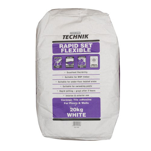 Evo-stik Technik Rapidset Flexible White Tile Adhesive