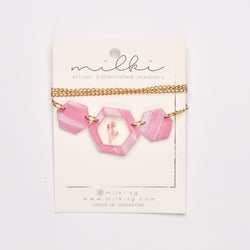 milki.sg Floral in Pink Necklace (Hex)