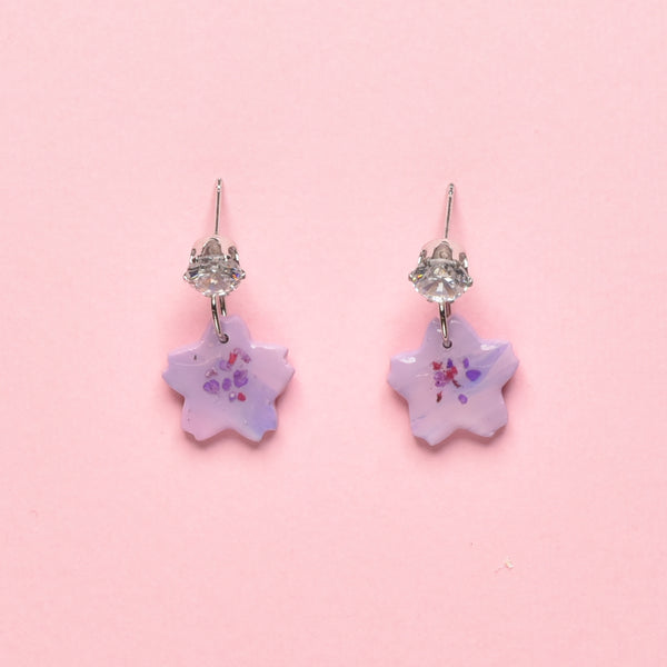 milki.sg Eternal Bloom Purple Dangles (Sakura)