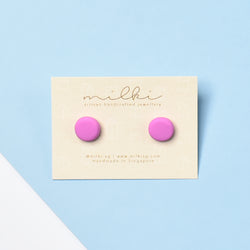 milki.sg Bubble Gum Pink Candy Stud (Regular)