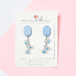 milki.sg Winter Magic Floral Dangles (Eggie)