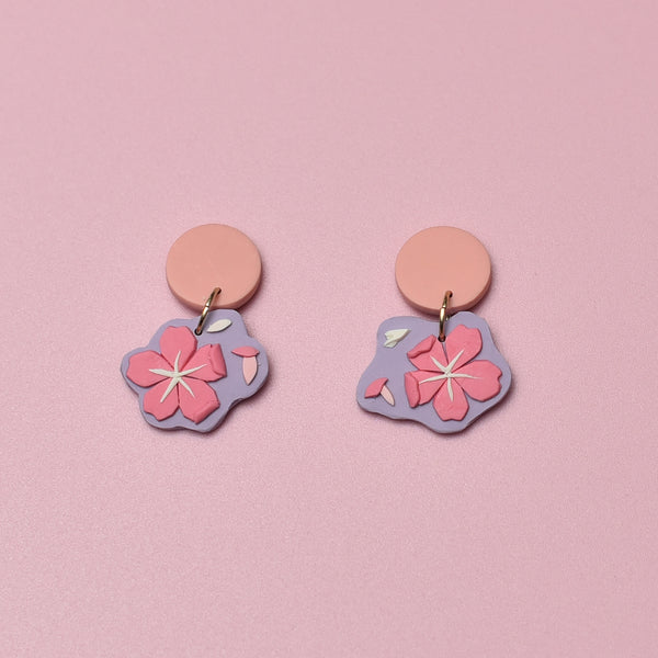 milki.sg Royal Sakura Sakura Pink Dangles (Mini)