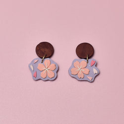 milki.sg Royal Sakura Copper Dangles (Mini)