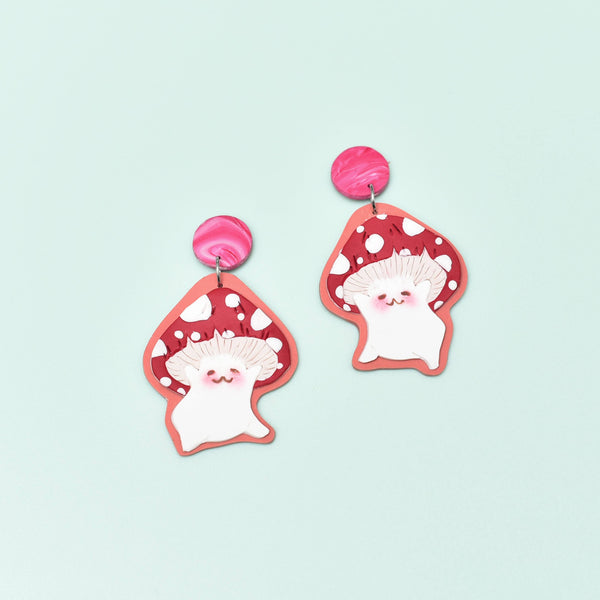 Dancing Umami Dangles (Red Shroom)