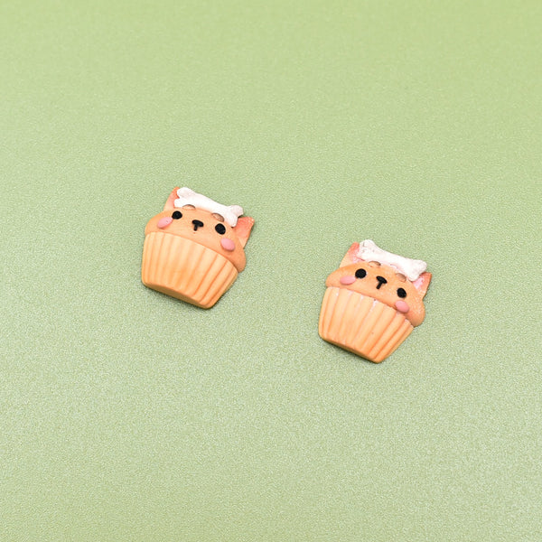 Birthday Cupcake Studs (Doggy)