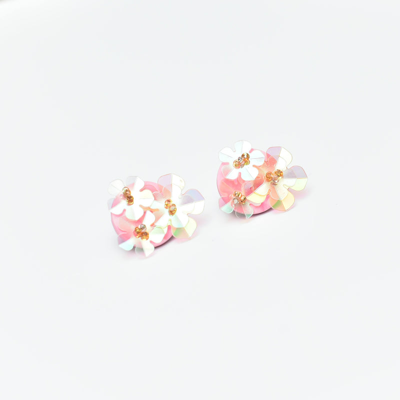 Sugar Gems Studs (Rose Quartz)
