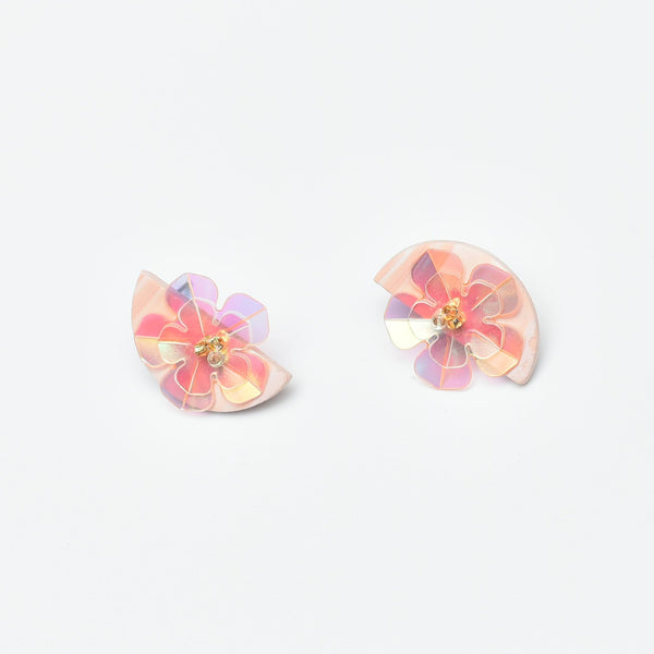 Sugar Gems Studs (Morganite)
