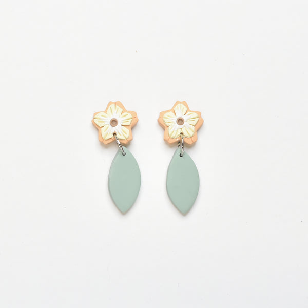 milki.sg Madeleine Orange Dangles (Leaf Drop 1)